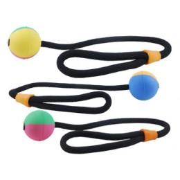 Balle à lancer Ball'n'Rope Rubb'n'Color 100 % Naturel