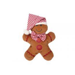 Jouet peluche personnage pain d'épices Noël 18 cm