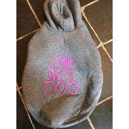 Sweat-Shirt Luxe I Love My Dog melanzana