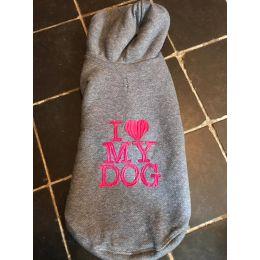 Sweat-Shirt Luxe I Love My Dog bleu curaçao