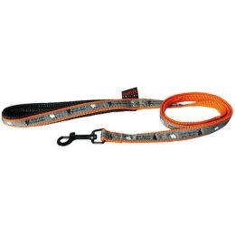 """Leash, """"Mon marcel pour chien"""" orange pattern"""