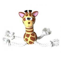 """Jouets vinyle et corde """"Super Girafe"""""""