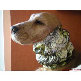 Snood - Cagoule protection oreilles tombantes - Motif fleurs, kaki, soyeux