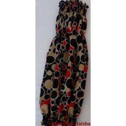 Snood - Cagoule protection oreilles tombantes - Motif design noir/rouge/beige