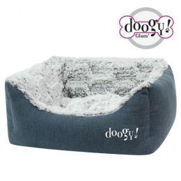 """Sofa ouatiné Doogy """"Whooly"""" bleu"""