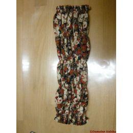 Snood - Cagoule protection oreilles tombantes - Motif fleuri rouge, brun, beige
