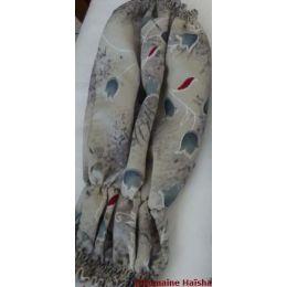 Snood - Cagoule protection oreilles tombantes - Motif muguet gris