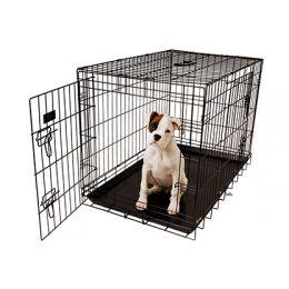 Cage américain noir avec plateau en plastique