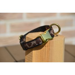 "Handmade adjustable collar, ""Brown Princess"" pattern"