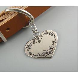 Médaille coeur fleur