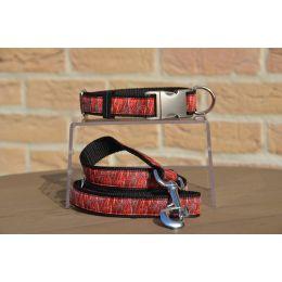 """Handmade Leash, """"Bordeaux Nolwen"""" pattern"""