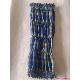 Snood - Cagoule protection oreilles tombantes - Motif tartan bleu