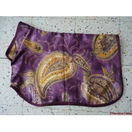 Manteau préparation expo flashy violet & doré
