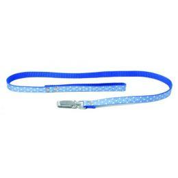 Collier réglable à pois - Bleu
