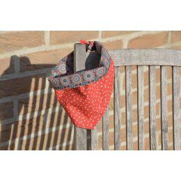 "Handmade Bandana - Scarf - Knot Tied - ""Stars & Stripes"" pattern - Cocker size"