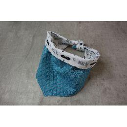 "Handmade Bandana - Scarf - Knot Tied - ""Birds & Flowers"" pattern - Cocker size"