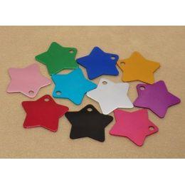 Médaille Star - avec strass - gravure au choix