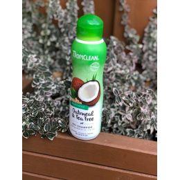 TropiClean Natural - Shampooing peaux sensibles - Huile d'avoine et huile d'arbre à thé (Tea Tree) - convient pour usage médical
