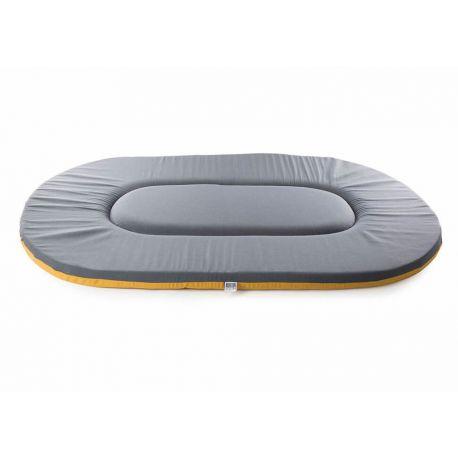 Flat oval Dog Cushion - Classic Brown