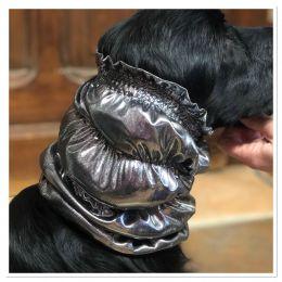 Snood - Cagoule protection oreilles tombantes - Motif design gris argenté - soyeux