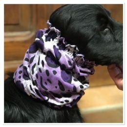 Snood - Cagoule protection oreilles tombantes - Motif violet moucheté