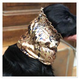 Snood - Cagoule protection oreilles tombantes - Motif léopard - soyeux