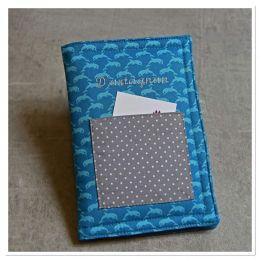 """Protège carnet de santé/passeport fait main motif """"Flipper"""""""
