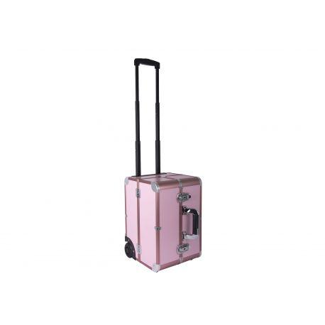 Groom-X Valise de Toilettage Pink Deluxe Portable avec roulettes - Rose