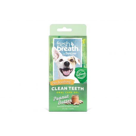 Tropiclean Fresh Breath Clean Teeth Oral Care Gel - Arôme de beurre de cacahuète