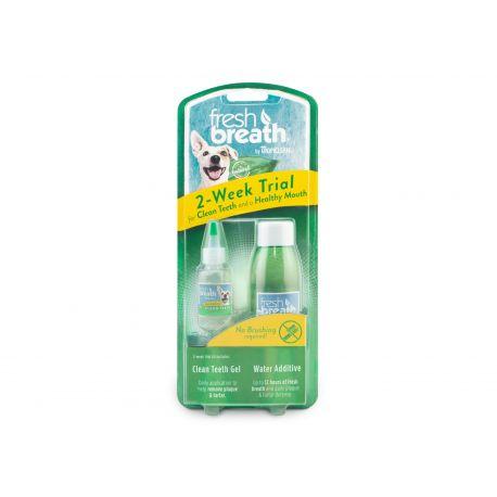 Tropiclean Fresh Breath 2-WeekTrial Oral Care - Kit d'essai dentaire