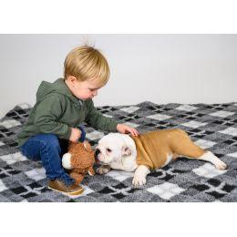 Pet Bed antidérapant - Gris Argyle