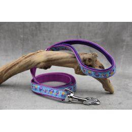 """Handmade Leash, """"Purple Fantasia"""" pattern"""