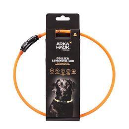 Collier lumineux tube USB - Orange