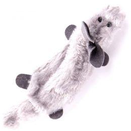 Crushed plush toy, without filling, rabbit