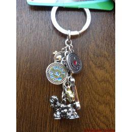 Porte-clés métallique Cocker américain