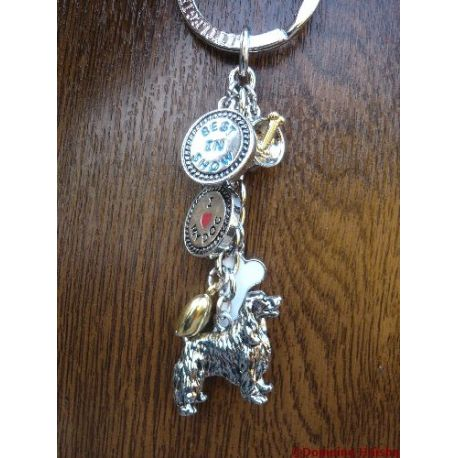 English Springer Spaniel metal keyring