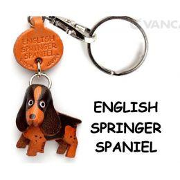 Porte-clés cuir Cocker anglais noir