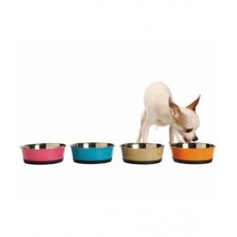 Inox colored food bowl - Pink