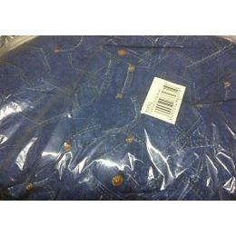 Coussin ovale motif jeans - 60 cm